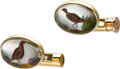 Estate Jewelry:Cufflinks, Rock Crystal Quartz, Mother-of-Pearl, Gold Cuff Links, Deakin & Francis, English. ...