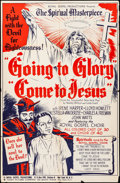 "Going to Glory, Come to Jesus (Toddy Pictures, R-1948) Folded, Fine+. One Sheet (27"" X 41""). Black Films"