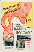 "Movie Posters:Sexploitation, Career Girls on a Naked Holiday (Joseph Brenner Associates, 1960).Folded, Fine+. One Sheet (27"" X 41""). Sexploitation...."