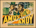 "Movie Posters:Comedy, Check and Double Check (RKO, 1930). Fine-. Trimmed Title Lobby Card(11"" X 14""). Comedy...."