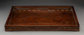 Decorative Accessories, A Chinese Inlaid Burl and Hardwood Tray, 19th century. 1-5/8 x 21 x 16 inches (4.1 x 53.3 x 40.6 cm). ...