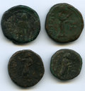 Ancients:Ancient Lots  , Ancients: ANCIENT LOTS. India. Kushan Empire. Ca. 1st century AD.Lot of four (4) AE units. Good-Fine.... (Total: 4 coins)