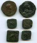 Ancients:Ancient Lots , Ancients: ANCIENT LOTS. Indo-Greek Kingdoms. Bactria. Ca. 165-125BC. Lot of six (6) AE. Fine-VF.... (Total: 6 coins)