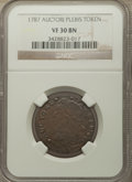 Colonials, 1787 TOKEN Auctori Plebis Token VF30 NGC. NGC Census: (6/30). PCGS Population: (11/73). ...