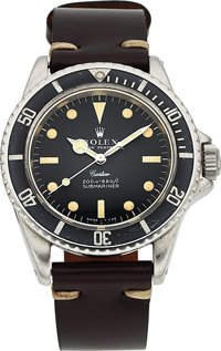 Rolex, Extremely Rare Submariner, Retailed by Cartier, Ref. 5513/0, Stainless Steel, Circa 1967