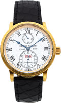 Timepieces:Wristwatch, Ulysse Nardin, Marine Chronometer, Power Reserve, 18K Yellow Gold,150th Anniversary Limited Edition, No. 227/250, Ref. 261-2...