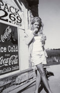 Photographs:Digital, Unknown Artist (20th Century). Untitled (Girl with Coke Sign), 1995. Digital pigment print, 2007. 11-1/2 x 7-1/2 inches ...