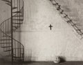 Photographs:Gelatin Silver, David Lubbers (American, b. 1947). Two Stairs, Mexico, 1988. Gelatin silver, 1990. 7-3/8 x 9-3/8 inches (18.7 x 23.8 cm)...