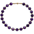 Estate Jewelry:Necklaces, Amethyst, Gold, Yellow Metal Necklace . ...