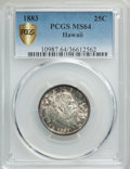 Coins of Hawaii , 1883 25C Hawaii Quarter MS64 PCGS Gold Shield. PCGS Population:(382/353 and 18/26+). NGC Census: (248/278 and 6/1+). CDN: ...