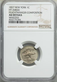 1837 1C Feuchtwanger Cent, New York -- Whizzed -- NGC Details. AU. Low-120, HT-268, Breen 6-I, R.1. NGC Census: (0/0). P...