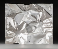 A Large Verner Panton Silver Tray in Original Box for Georg Jensen, Copenhagen, designed 1988 Marks: DESSIN, VP