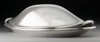 A Henning Koppel Silver Fish Dish and Cover No. 1026 for Georg Jensen: Cod Fish, Cop