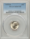 Roosevelt Dimes, 1949-D 10C MS67 Full Bands PCGS. PCGS Population: (124/11). NGC Census: (99/3). CDN: $60 Whsle. Bid for problem-free NGC/PC...