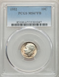 Roosevelt Dimes, 1952 10C MS67 Full Bands PCGS. PCGS Population: (32/1). NGC Census: (40/0). CDN: $95 Whsle. Bid for problem-free NGC/PCGS M...