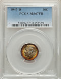 Roosevelt Dimes, 1947-D 10C MS67 Full Bands PCGS. PCGS Population: (45/2). NGC Census: (38/0). CDN: $145 Whsle. Bid for problem-free NGC/PCG...