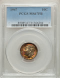 Roosevelt Dimes, 1947 10C MS67 Full Bands PCGS. PCGS Population: (53/1). NGC Census: (46/2). CDN: $145 Whsle. Bid for problem-free NGC/PCGS ...