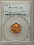 Lincoln Cents: , 1936-S 1C MS66 Red PCGS. PCGS Population: (628/76). NGC Census: (790/130). CDN: $100 Whsle. Bid for problem-free NGC/PCGS M...