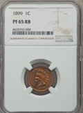 Proof Indian Cents: , 1899 1C PR65 Red and Brown NGC. NGC Census: (69/25). PCGS Population: (70/56). PR65. Mintage 2,031. ...
