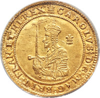 Great Britain: Charles I (1625-1649) gold Triple Unite 1642 MS61 NGC