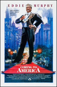 """Coming to America & Other Lot (Paramount, 1988) Rolled, Very Fine+. One Sheets (2) (26.75"""" X 40.75"""" &a..."""