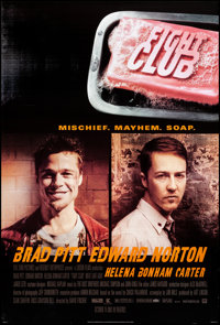 "Fight Club (20th Century Fox, 1999) Rolled, Very Fine+. One Sheet (27"" X 40"") DS, Advance, Style A. Action"