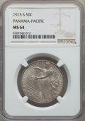 Commemorative Silver, 1915-S 50C Panama-Pacific MS64 NGC. NGC Census: (982/771). PCGS Population: (1009/973). MS64. Mintage 27,134. ...