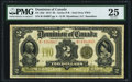 Canadian Currency, DC-22d $2 2.1.1914 PMG Very Fine 25.. ...