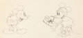 Animation Art:Production Drawing, Puppy Love Mickey Mouse and Minnie Mouse Animation Drawing(Walt Disney, 1933)....
