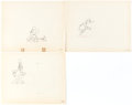 Animation Art:Production Drawing, Mickey's Service Station Mickey Mouse, Goofy, and Donald Duck Animation Drawings Group of 3 (Walt Disney, 1935).... (Total: 3 Original Art)