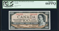 """Canadian Currency, BC-35a $100 1954 """"Devil's Face"""" PCGS Gem New 66 PPQ.. ..."""