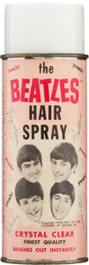 "Music Memorabilia:Memorabilia, Beatles Original Can of ""The Beatles Hair Stray"" Made by the Bronson Products Company (US, 1964)...."