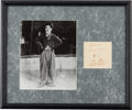 Music Memorabilia:Memorabilia, Charlie Chaplin Photo and Autograph....