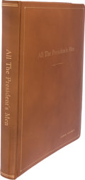 Movie/TV Memorabilia:Documents, All the President's Men Original Leather Bound PresentationFilm Screenplay (1976)....