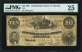 Confederate Notes:1861 Issues, T23 $10 1861 PF-3 Cr. 155 PMG Very Fine 25.. ...