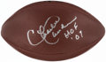 "Autographs:Footballs, Charlie Sanders ""HOF '07"" Signed Football...."