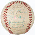 Autographs:Baseballs, 1972 Pittsburgh Pirates Team Signed Baseball, Roberto Clemente's Final Season (23 Signatures)....