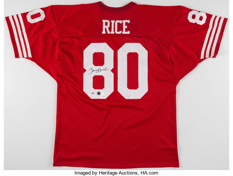 b528b0513 Jerry Rice Signed San Francisco 49ers Jersey. ... Autographs | Lot ...