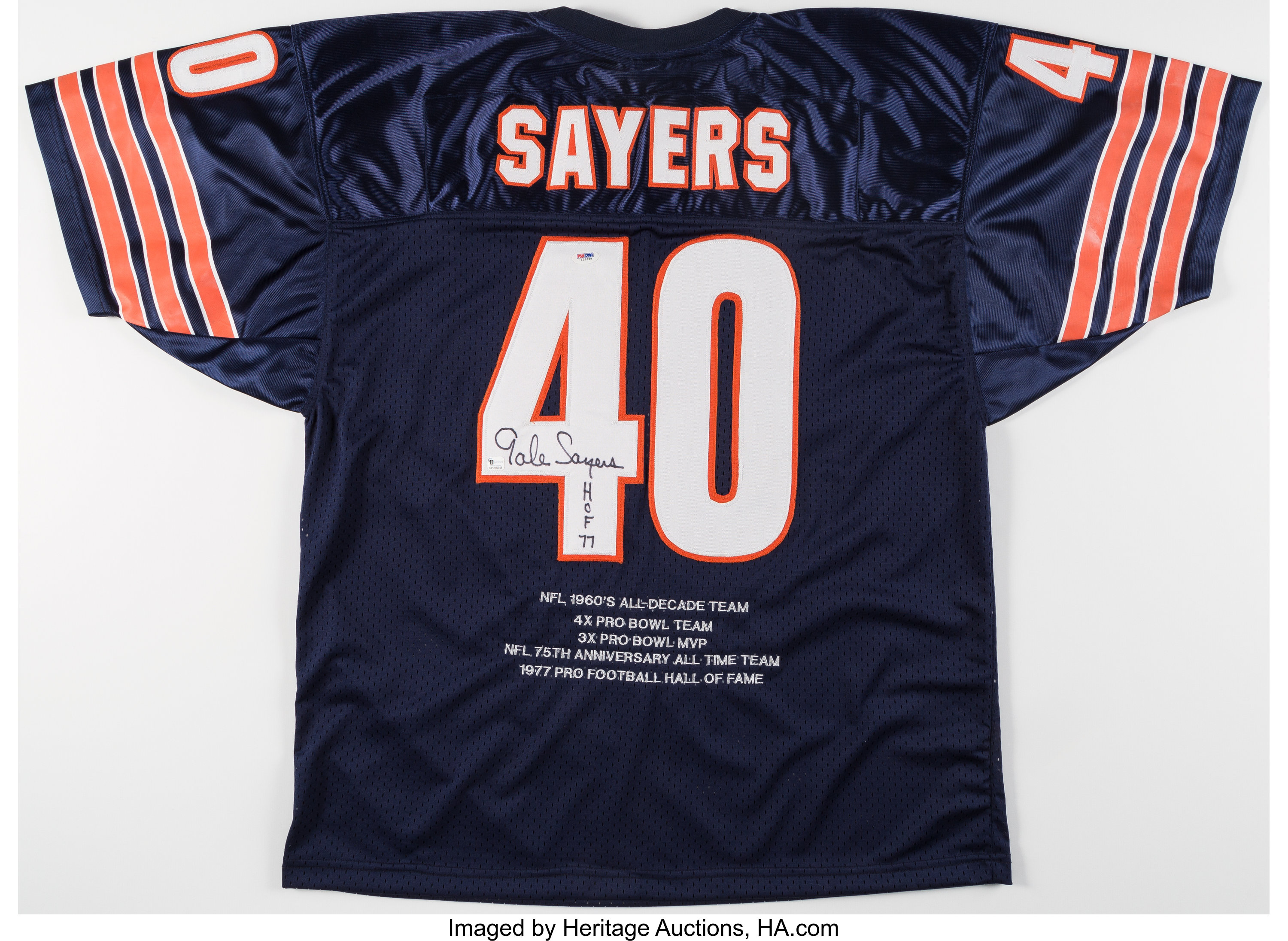check out e11f5 e2b4c Gale Sayers Signed Chicago Bears Jersey. ... Autographs ...