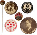Political:Pinback Buttons (1896-present), The Labor Movement: Industrial Workers of the World I.W.W. Items....