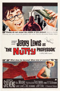 Movie/TV Memorabilia:Posters, The Nutty Professor One-Sheet Movie Poster Signed by JerryLewis (Paramount, 1963). ...
