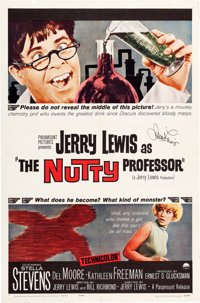 The Nutty Professor One-Sheet Movie Poster Signed by Jerry Lewis (Paramount, 1963)