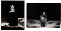 Movie/TV Memorabilia:Photos, Yale Joel Iconic Marilyn Monroe and John F. Kennedy Photographs Taken at the Democratic Rally (1962).... (Total: 2 Items)
