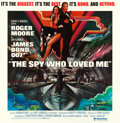 "The Spy Who Loved Me (United Artists, 1977) Very Fine+ on Linen. International Six Sheet (76.75"" X 78.5""). Bob..."