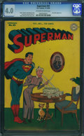 Golden Age (1938-1955):Superhero, Superman #43 (DC, 1946) CGC VG 4.0 Off-white to white pages.