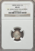 India:British India, India: British India. Victoria 6-Piece Lot of Certified 2 Annas NGC,... (Total: 6 coins)