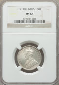 India:British India, India: British India. George V 6-Piece Lot of Certified 1/2 Rupees NGC,... (Total: 6 coins)
