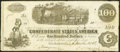 Confederate Notes:1862 Issues, T40 $100 1862 Fine-Very Fine.. ...
