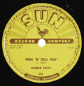 Music Memorabilia:Recordings, Various Sun Artists 78 Group of 7 (Sun, 1953-57). Elvis and Jerry Lee aren't represented here, but these are probably the br... (Total: 7 Items)