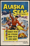 "Movie Posters:Adventure, Alaska Seas (Paramount, 1954). One Sheet (27"" X 41""). Adventure. Starring Robert Ryan, Jan Sterling, Brian Keith, and Gene B..."